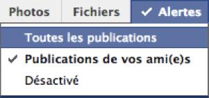 Gérer ses alertes sur Facebook